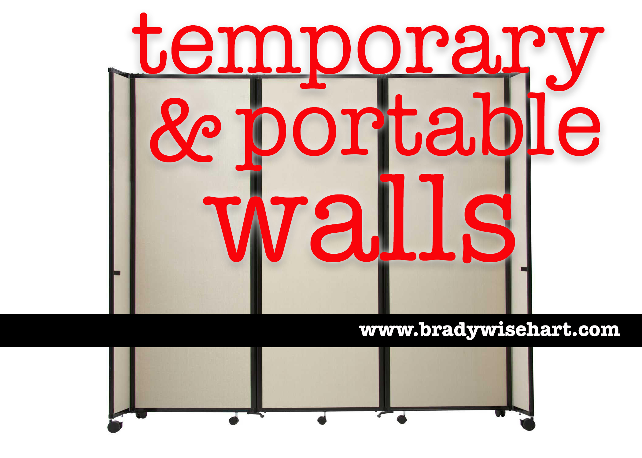 temporary & portable walls